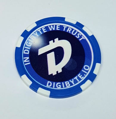Digibyte Poker Chip Crypto Coin