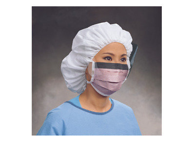 McK FluidShield Pleated Ties Blue / Orange Surgical Mask with Eye Shield 25 CT