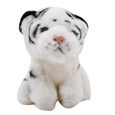 PAIR Of STUFFED PLUSH TIGERS ~ White Tiger 15cm Soft Toy ~Small Plush Tigers LC