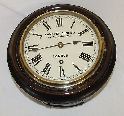 Antique Style Small 7 3/4 inch Dial  Wall School Clock CAMERER CUSS CO LONDON