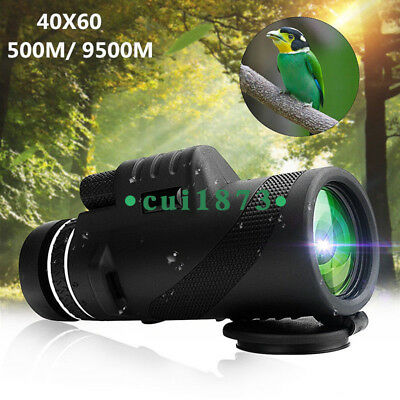 40X60 High definition Day/Night Vision Focus HD Optics Zoom Monocular Telescope