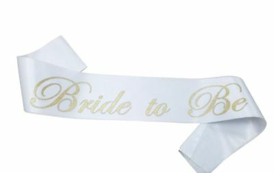 Bride To Be Party Sash - Gold and White - Hen Night - Bridal Shower