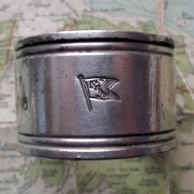 c1920 Original Emmigrant Ship ANCHOR LINE silver plated Napkin Ring No 43