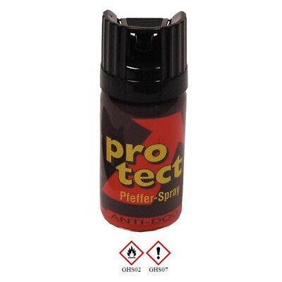 3 Dosen Pfefferspray Protect 40ml Tierabwehrspray Abwehrspray Pepper spray KKS