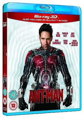 Ant-Man [3D + 2D Blu-ray Region Free, Marvel Action Super Heroes Rudd Lilly] NEW