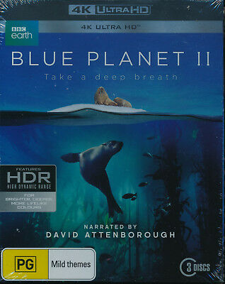 Blue Planet II NEW 4K UHD Blu-ray Region B 3-disc David Attenborough