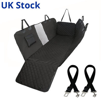 Dog Car Seat waterproof Cover for Pets with 2 dog Seat-belt Harnesses UK stock