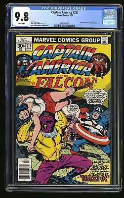 Captain America #211 CGC NM/M 9.8 White Pages
