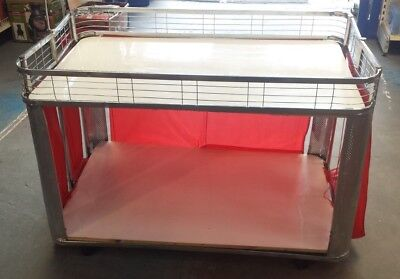 Foldable Display Tables Car Boot Market Stall Compact Portable Fete Fair wheels