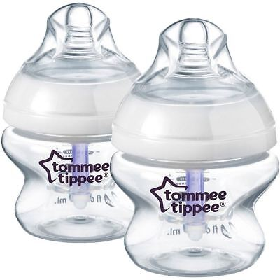 Tommee Tippee CLOSER TO NATURE ADVANCED COMFORT 150ml x2 BOTTLES 0m+  BN