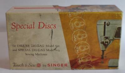 Vintage Zig-Zag Special Discs Models 600 & 603 Touch & Sew by Singer w/ Box