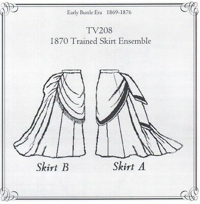 Old West 1870 Trained Skirt Ensemble sewing pattern Truly Victorian TV208