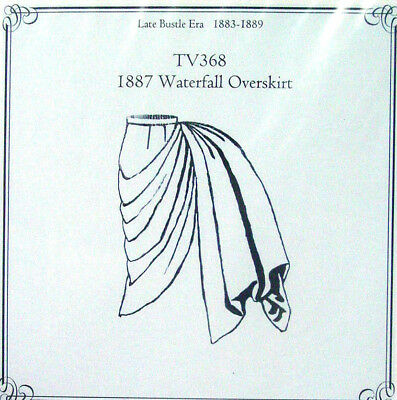 old west waterfall overskirt Truly Victorian sewing pattern TV368 for 1887