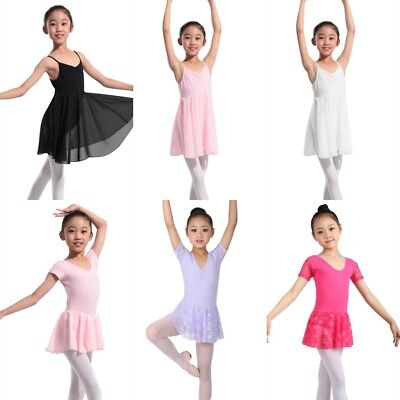 US Girl Ballet Costume Tutu Skirt Gymnastics Leotard Dance Dress kids' Dancewear