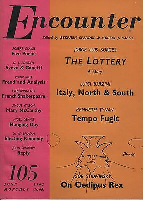 ENCOUNTER MAGAZINE(June 1962) KENNETH TYNAN-ROBERT GRAVES-STRAVINSKY-D.J.ENRIGHT