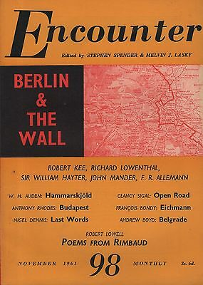 ENCOUNTER MAGAZINE (November 1961) BERLIN & THE WALL-ROBERT LOWELL-AUDEN-SIGAL