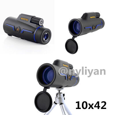 Waterproof 10X42 High Power HD Monocular Telescope HD Dual Focus ScopeBAK4 Sport