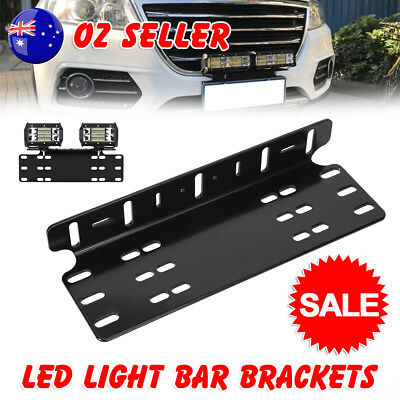 Number Plate Black Holder Mount Bracket Car Led Driving Light Bar Spot Licence