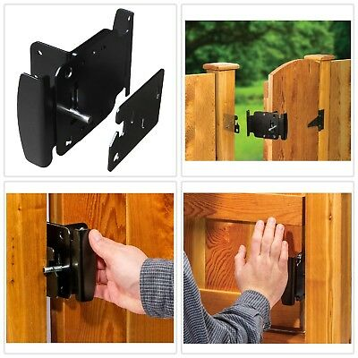 Gate Latch Fence Gates Handle Latches Reversible Push Pull Open Activation 2-Way