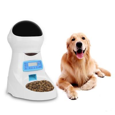 Cat Feeder Automatic 4 Meals Pet Dog Voice Recording LCD Food Dispenser Bowl