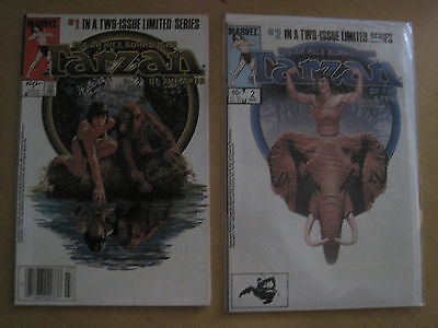 E R BURROUGH 's TARZAN of the APES : COMPLETE 2 ISSUE SERIES. MARVEL.1984