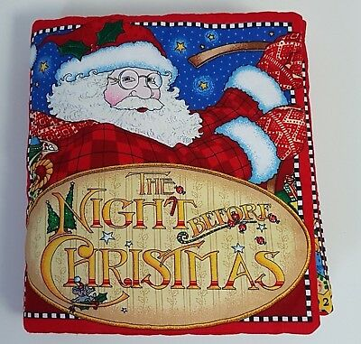 Fabric Baby Book Mary Engelbreit The Night Before Christmas Children's