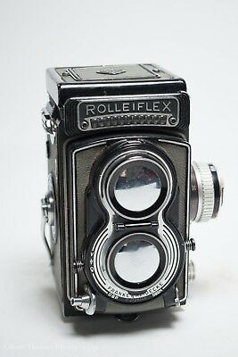 Rolleiflex T K8 GREY Carl Zeiss Tessar 75mm f.3.5 Medium Format TLR Camera