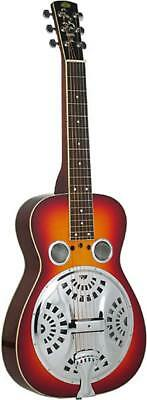 Regal RD-40 Squareneck Resonator Gitarre. Fichte Oberteil, Cherry Sunburst.