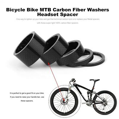 Bicycle Bike MTB Carbon Fiber Washers Headset Spacer 3mm 5mm 10mm 15mm 20mm RY