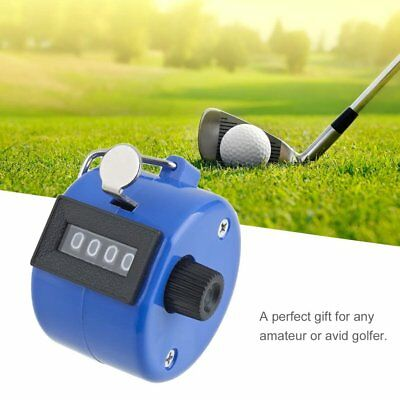 Handheld Golf Tally Click Counter 4 Digital Chrome Manual Mechanical Counter RY