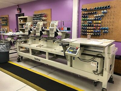 brother BAS-423 3 head embroidery machine