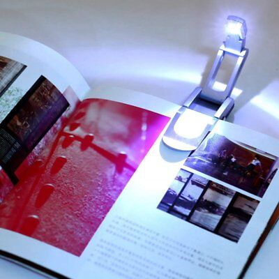 Portable Bright Clip Adjustable LED Book Desk Light Reading Booklight Lamp RY
