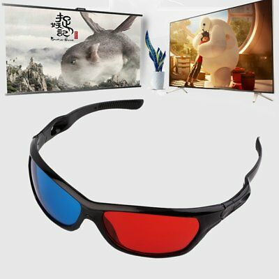 Black Frame Red Blue 3D Glasses For Dimensional Anaglyph Movie Game DVD RY