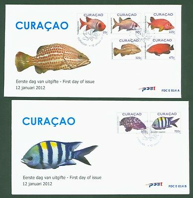 Curacao 2012 - Fische Soldatenfisch Fishes Poissons Pesci Peixes - Nr. 74-80 FDC