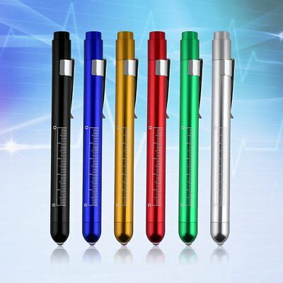 Aluminum Medical Surgical Penlight Pen Light Flashlight Torch w/ Scale First Aid