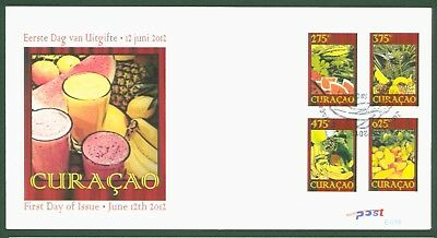 Curacao 2012 - Früchte Obst Melone Ananas Mango Banane Fruits - Nr. 97-100 FDC