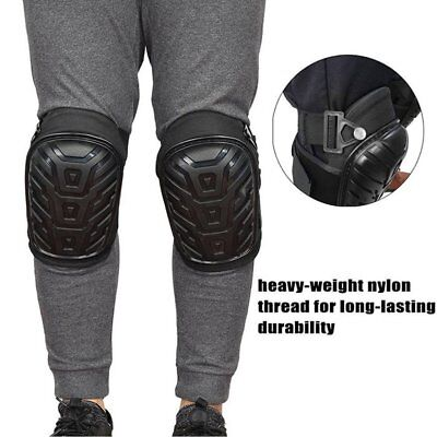 1 Pair Professional Heavy Duty Work Knee Pads Adjustable Safe Gel Cushion RY