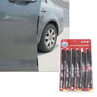 8x Car Door Edge Guards Protection Strip Scratch Protector Anti-rub NEW Black RY