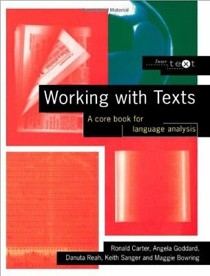 Working with Texts: A Core Introduction to Language Analysis: A Core Book for ,