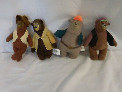 Disney The Country Bears McDonalds Plush Stuffed Animals Details about  /LOT of Happy Meal 2