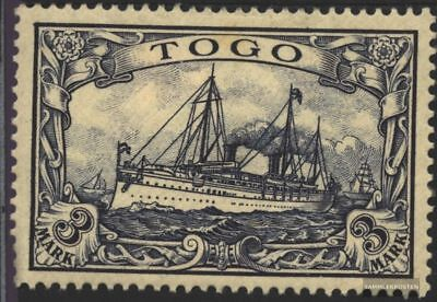 Togo (German. Colony) 18 with hinge 1900 Ship Imperial Yacht Hohenzollern