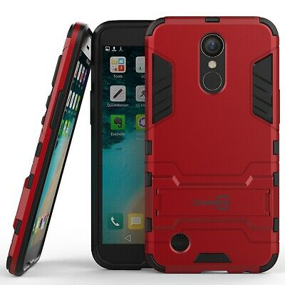 For LG K20 Plus / K20 V / K20V Hard Case Red Kickstand Protective Phone Cover
