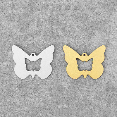 5Pcs Silver/Gold Tone Aluminum Alloy Open Butterfly Charms Pendants 52*63mm Bead