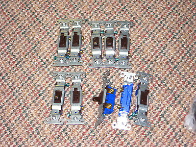 10 X Eaton Cooper 1301-7B Brown Quiet Toggle Wall Light Switch 15A 120V NEW
