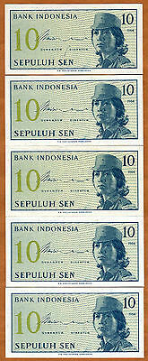 LOT, Indonesia, 5 x 10 Sen, 1964, P-92, UNC