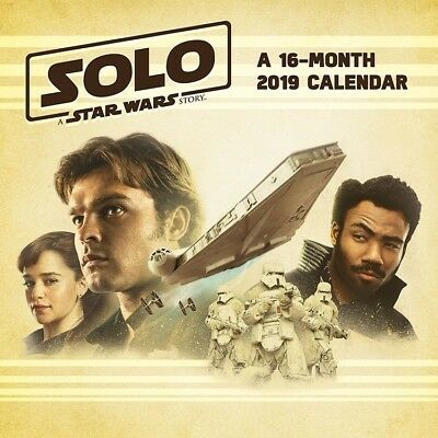 Solo: A Star Wars Story 16 Month 2019 Photo Images Wall Calendar NEW SEALED