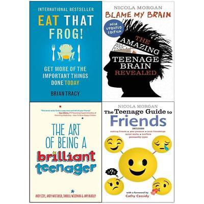 Art of Being a Brilliant Teenager Blame My Brain 4 Books Collection Set NEW