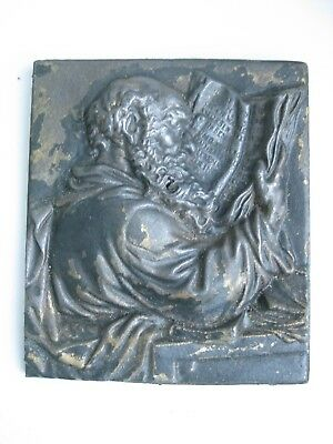 Antique Iron Cast Plaque Apostle Paul