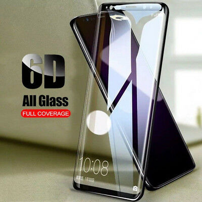 9H 6D Tempered Glass Film Full Cover Screen Protect for Samsung S8 S9 Plus Note8
