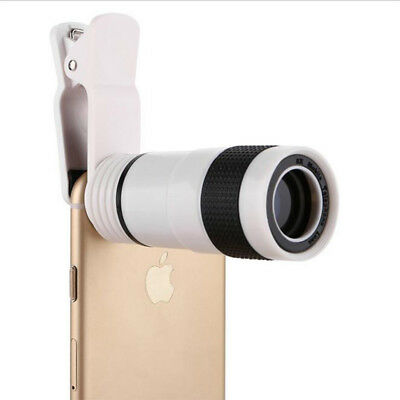 8x Zoom Optical Camera Telescope Lens Universal Clip Kit For Mobile Cell Phone -